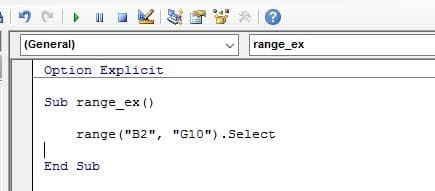 VBA Select Method