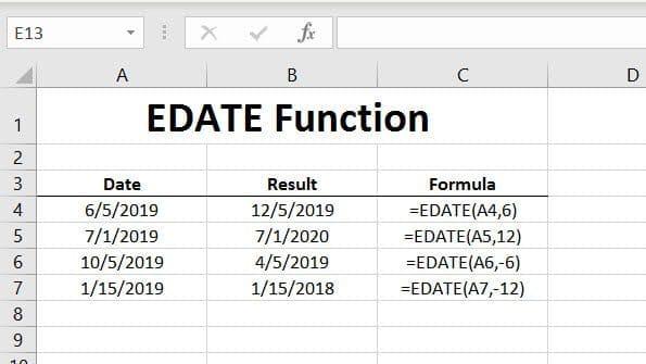 EDATE Function