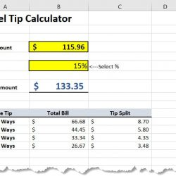Excel Tip Calculator
