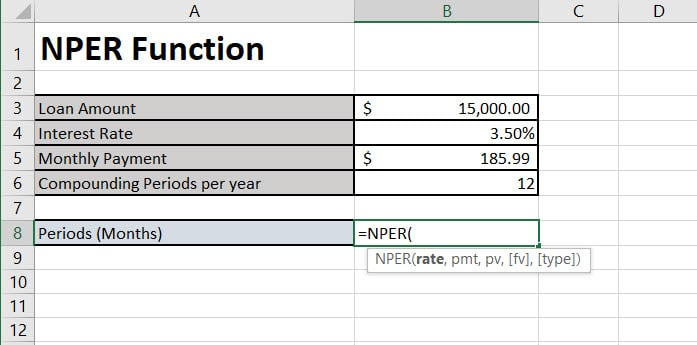 NPER Function Review