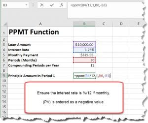 PPMT-Function