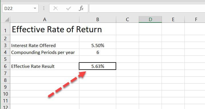 Effective Rate of Return Result